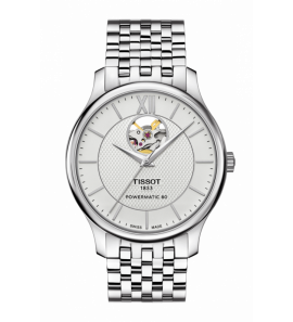 TISSOT TRADITION POWERMATIC 80 OPEN HEART férfi karóra T063.907.11.038.00